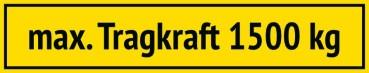 Sticker Maximum Capacity (German)