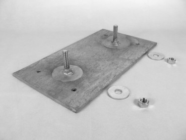 Mounting plate for Dock bumpers