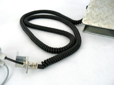 Spiral cable black (electric wheel chock)